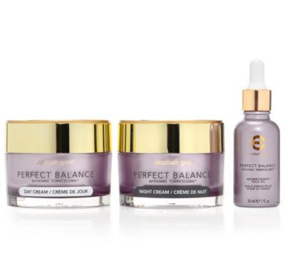 ELIZABETH GRANT PERFECT BALANCE Aroma-Gesichtspflege für Tag&Nacht Set 3-tlg.