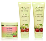 M.ASAM® Tropic Cherry Körperpeeling 600g & Body Lift Gel 2x 250ml