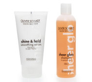OLIVER SCHMIDT Sheer Gloss Shampoo, 250ml & Smoothing Serum 150ml, 2tlg.