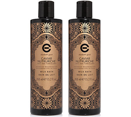 ELIZABETH GRANT CAVIAR Milk Bath Duo 2x 450ml