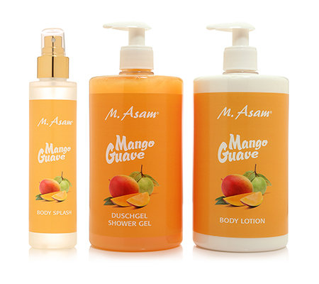 M.ASAM Guave Mango Bodylotion 750ml Duschgel 750ml Body Splash 150ml
