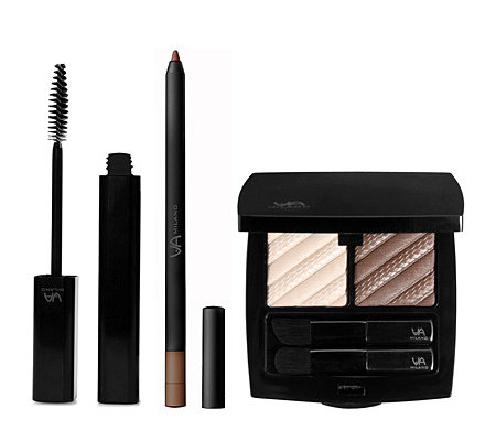 VIA MILANO Make-up Set Bella, Mascara, Eyeliner & XL-Lidschatten, 3tlg.