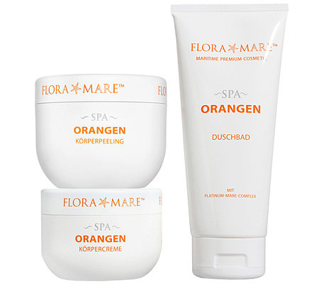 FLORA MARE SPA Orange Körperpflege-Set 3-tlg.