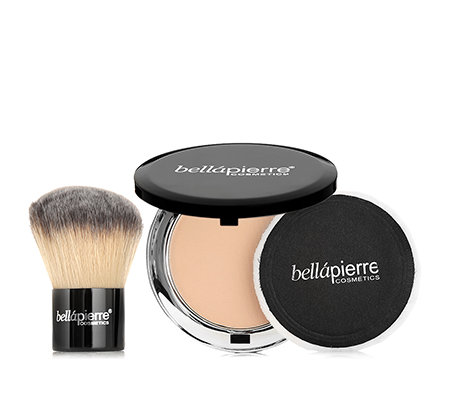 BELLAPIERRE COSMETICS Foundation mit Kabukipinsel & LSF 15