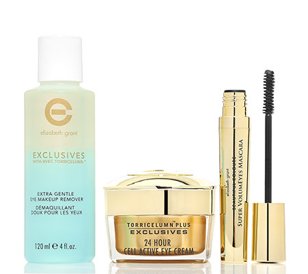 ELIZABETH GRANT Eye Make-up Remover, Mascara & 24h Cell Active Eye Cream 3-tlg.