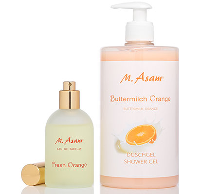 M.ASAM® Buttermilch Orange EdP 100ml & Duschgel 750ml