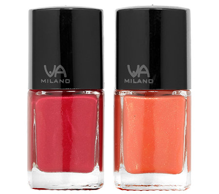 VIA MILANO Make up - Nagellack Duo 2 Farben, 2x 12ml