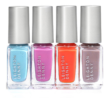 LEIGHTON DENNY Nagellack-Set Beach Party Mini Farblacke je 4,6ml