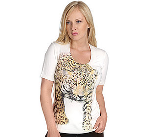 Shirt, 1/2-Arm Strassstei
