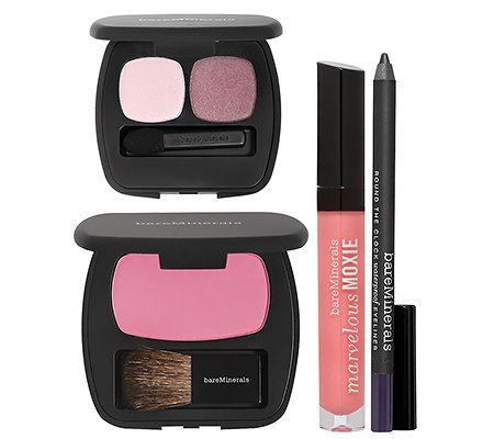 bareMinerals® Obsessed with Pink Lidschatten, Eyeliner, Rouge, Lipgloss, 4-tlg.