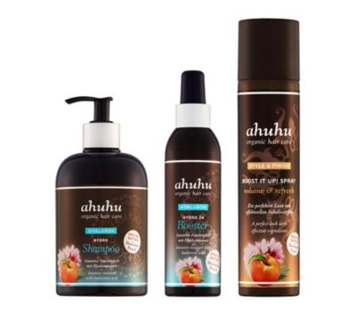 ahuhu organic hair care Pflegeset Hydro 3tlg. Limited Edition Hawaiian Peach