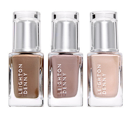 LEIGHTON DENNY Nagellack-Trio Taupe Collection in Brauntönen 3x 12ml