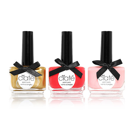 CIATÉ Nagellacktrio Ladies Day koralle, rosè & gold, je 13,5ml