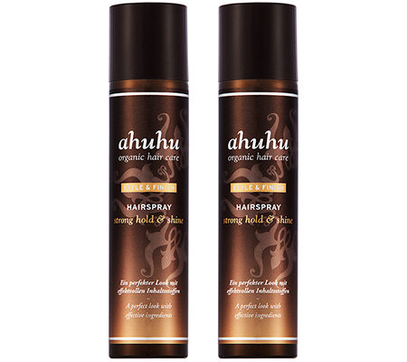 ahuhu organic hair care Hairspray-Duo strong hold & shine je 300ml