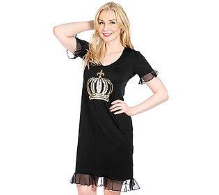 Nachtkleid Kronendruck