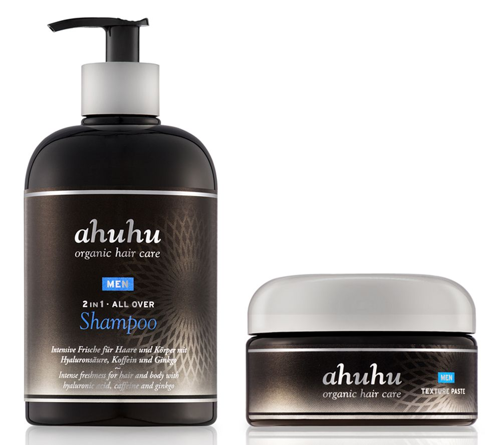 ahuhu organic hair care All Over Shampoo Herren & Texture Paste, 2tlg.