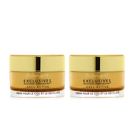 ELIZABETH GRANT CELL ACTIVE Neck- & Dekolleté Smoothing Cream 2x 50ml