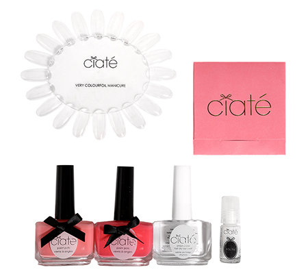 CIATÉ Very Colourfoil Set, Metallische Folien, 2 Nagellacke & Überlack, 4tlg.