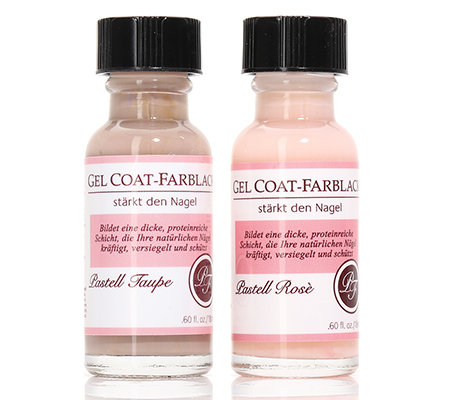 PERFECT FORMULA Gel Coat Farblack-Duo Pastell Rosé & Pastell Taupe jeweils 18ml