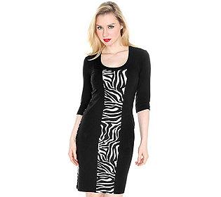 Kleid Zebra-Einsätze