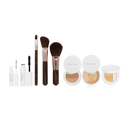 sheer cover® Studio Make-up-Set 5-tlg. inkl. 3 Pinsel