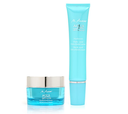 M.ASAM AQUA INTENSE Hyaluroncreme 50ml & Hals-/Dekolletécreme 75ml