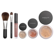 bareMinerals® Make-up-Set inkl. Deluxe Foundation, Rouge, Lidschatten & 2 Pinseln, 6tlg.