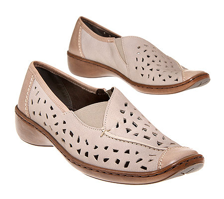 ARA Damen-Slipper Materialmix Lochmuster G-Weite