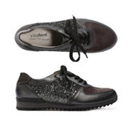 VITAFORM ACTIVE Damensneaker Materialmix Glitzerdetails Profilsohle