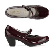 VITAFORM Elegance Mary-Jane-Pumps Leder & Stretch Lack-Optik Absatz, ca. 5cm