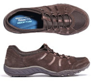 SKECHERS Damenslipper Breathe-Easy Materialmix Memory Foam
