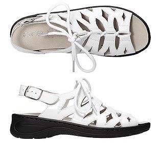 Damen-Sandale Lackleder