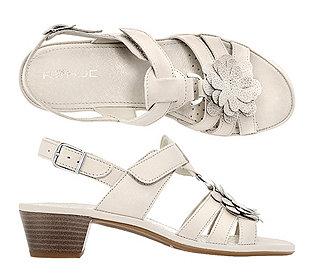 Sandalette Glattleder