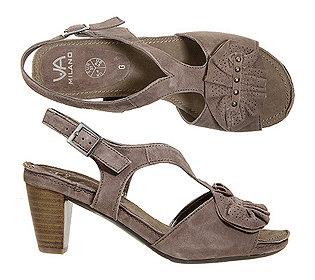 Sandalette Nubukleder