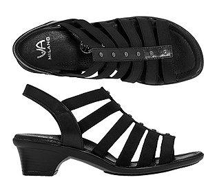Sandalette Materialmix