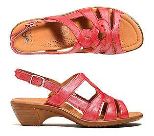 Sandalette Leder
