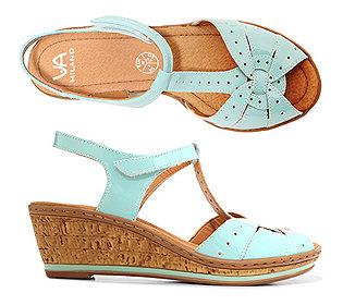 Sandalette Lackleder