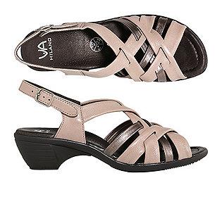 Flecht-Sandalette Leder