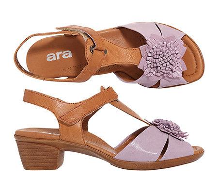 ara sandalette echt leder h weite absatz ca 5cm. Black Bedroom Furniture Sets. Home Design Ideas