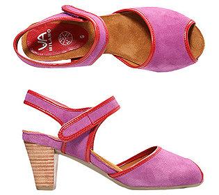 Sandalette Veloursleder