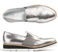 THOM by Thomas Rath Slipper echt Leder Metallic-Optik Handnahtsohle