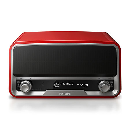 PHILIPS Retrodesign Radio LCD-Display DAB+ & UKW Empfang Bluetooth