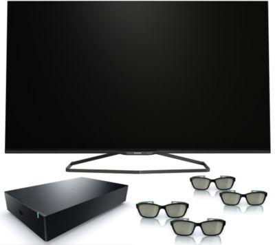 PHILIPS Ambilight 3D Smart TV mit kabellosem Subwoofer, 800Hz 3J. Garantie