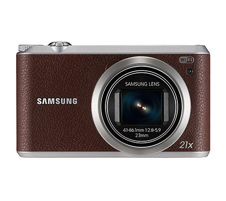 SAMSUNG 16MP Digitalkamera 21x opt. Zoom, WiFi 23mm Weitwinkel, NFC 8GB Speicherkarte