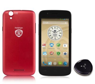 PRESTIGIO 12,7cm Smartphone Quad Core, Multikey, Wechselcover, Hülle, Internet Security