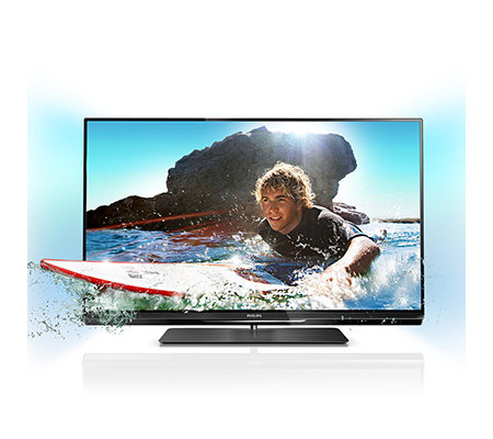 PHILIPS 81cm 3D LED-TV Ambilight Spectra 2 HD Dreifach Tuner 600Hz & 3D Brillen