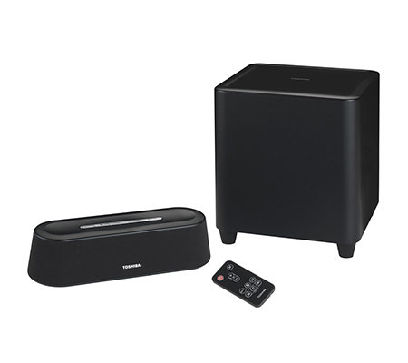 TOSHIBA Mini 3D Soundbar Subwoofer, Bluetooth kompatibel mit TV, PC Tablet, Smartphone