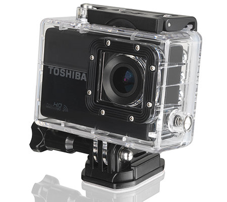 TOSHIBA Outdoor Action Kamera 12MP, 10x dig. Zoom Full HD Videos, WiFi umfangreiches Zubehör