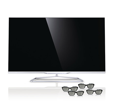 PHILIPS 119cm 3D Smart TV 3-seitiges Ambilight integr. Skype Kamera 700Hz, 3 J. Garantie
