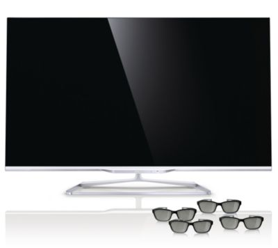 PHILIPS 119cm 3D Smart TV 3-seitiges Ambilight integr. Skype Kamera 700Hz, 3 J. Garantie